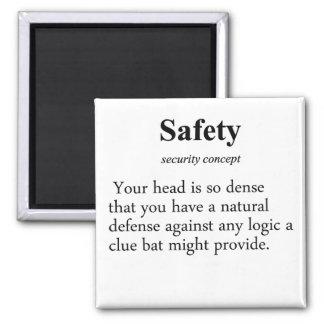 Definición de la seguridad imán cuadrado