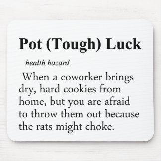 Definición de la suerte del pote tapetes de raton