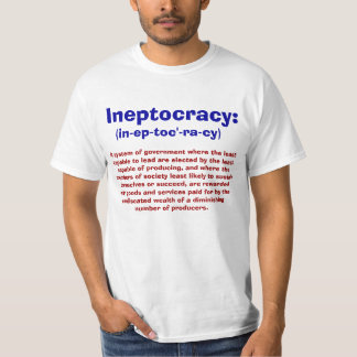 Definición de las camisetas de Ineptocracy Playeras