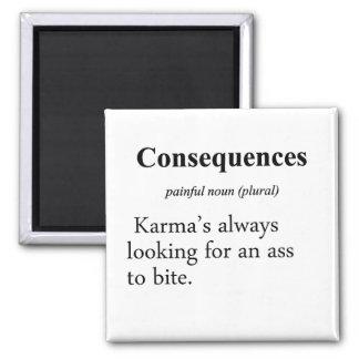 Definición de las consecuencias imán cuadrado