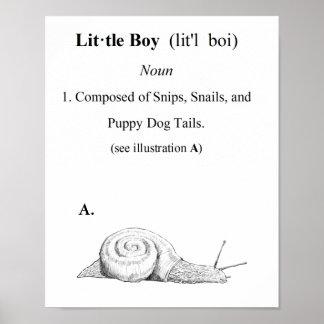 Definición de Little Boy Póster