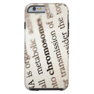 Definición de los cromosomas en la página funda para iPhone 6 tough