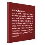 Definición de rojo del lavadero y blanco quebradiz lona estirada galerías