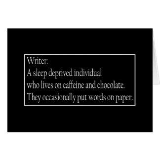 Definición de un humor de la escritura del escrito tarjeta de felicitación