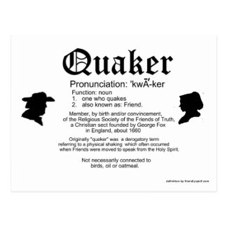 Definición de un Quaker Tarjetas Postales