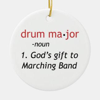 Definición de un tambor mayor ornatos