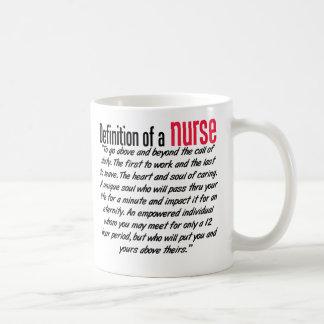 Definición de una enfermera taza