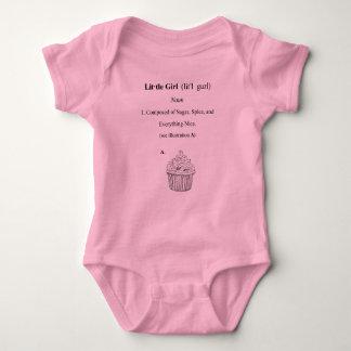 Definición de una niña body para bebé