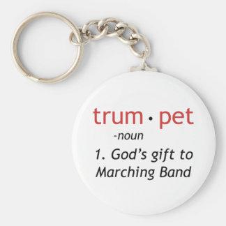 Definición de una trompeta llavero redondo tipo pin