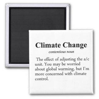 Definición del cambio de clima imán cuadrado