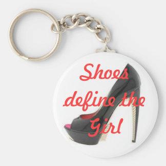Definición del chica llavero redondo tipo pin