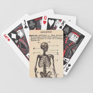 Definición del esqueleto del vintage barajas de cartas