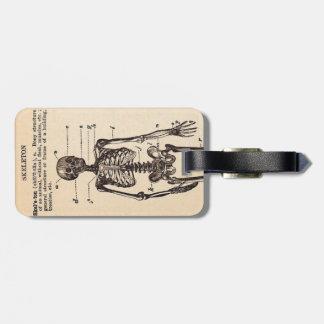Definición del esqueleto del vintage etiquetas de equipaje