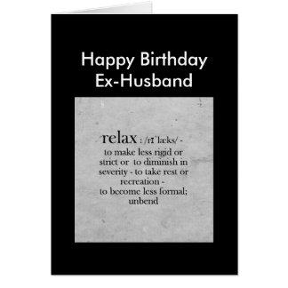 Definición del exmarido del cumpleaños del humor tarjeta de felicitación
