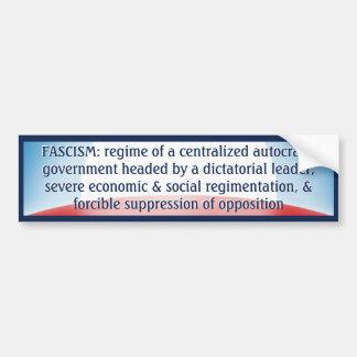 Definición del fascismo pegatina para auto