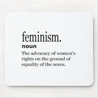 definición del feminismo alfombrillas de ratón