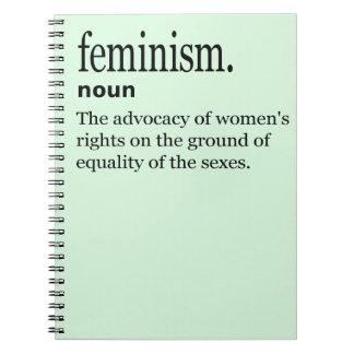 Definición del feminismo libretas espirales