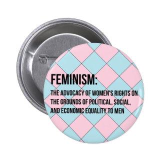Definición del feminismo pins
