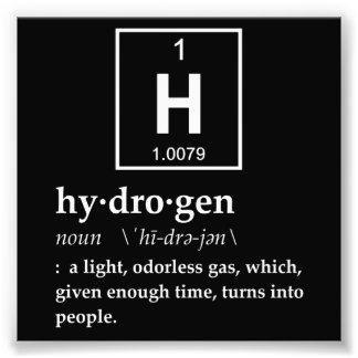 Definición del hidrógeno fotografía