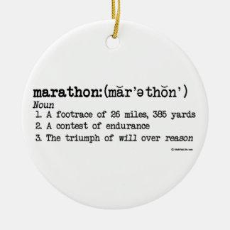 Definición del maratón ornamento para arbol de navidad