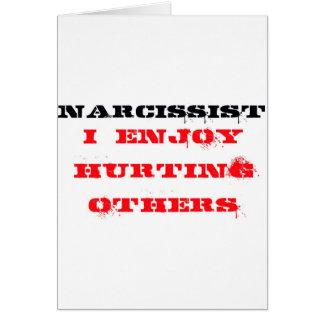 Definición del Narcissist Tarjeta De Felicitación