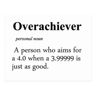 Definición del Overachiever Tarjetas Postales
