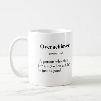 Definición del Overachiever Taza De Café