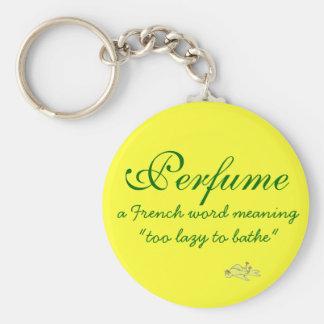 Definición del perfume llavero redondo tipo pin