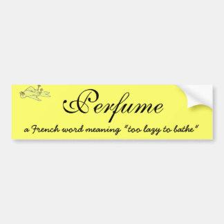 Definición del perfume pegatina para auto
