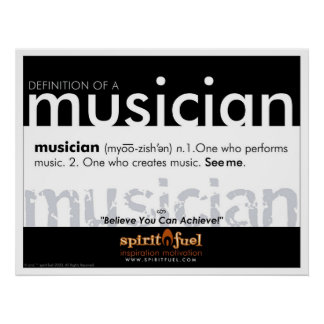 Definición del poster - músico
