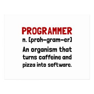 Definición del programador postales