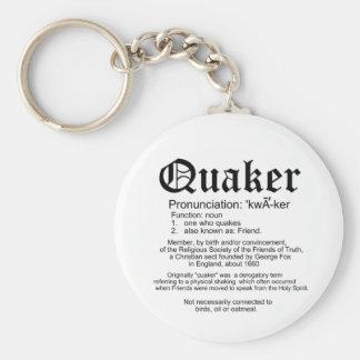 Definición del Quaker Llavero Personalizado
