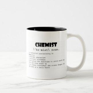 Definición del químico taza dos tonos