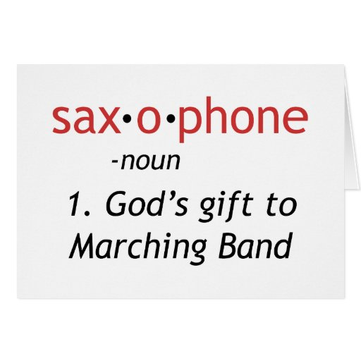 Definición del saxofón tarjeta de felicitación
