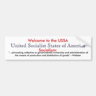 Definición del socialismo etiqueta de parachoque