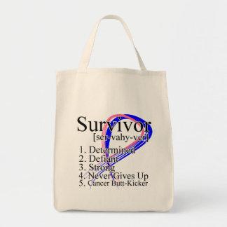 Definición del superviviente - cáncer de pecho mas bolsa tela para la compra