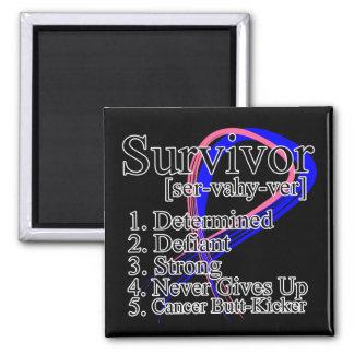 Definición del superviviente - cáncer de pecho mas imán cuadrado