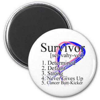 Definición del superviviente - cáncer de pecho mas imán redondo 5 cm