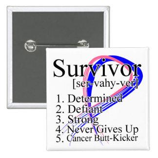 Definición del superviviente - cáncer de pecho mas pin cuadrada 5 cm