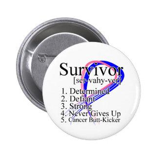Definición del superviviente - cáncer de pecho mas pin redondo 5 cm