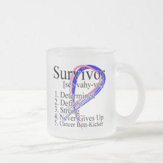 Definición del superviviente - cáncer de pecho mas taza cristal mate