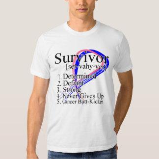 Definición del superviviente - cáncer de pecho remera