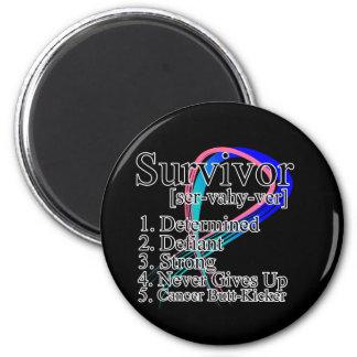 Definición del superviviente - cáncer de tiroides imán redondo 5 cm