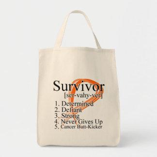 Definición del superviviente - cáncer del riñón (n bolsa lienzo