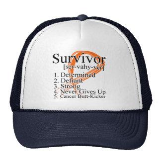 Definición del superviviente - cáncer del riñón (n gorros bordados