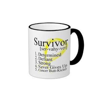 Definición del superviviente - cáncer testicular tazas de café