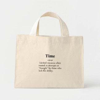 Definición del tiempo bolsa tela pequeña
