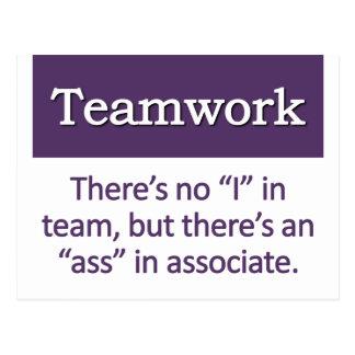 Definición del trabajo en equipo tarjeta postal