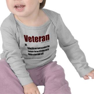 Definición del veterano camisetas