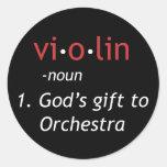 Definición del violín pegatinas redondas